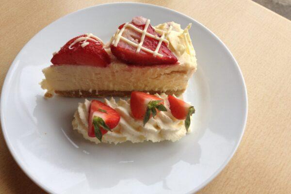 Strawberry and Cream Cheesecake